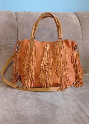 Замшевая женская сумка topshop сток
