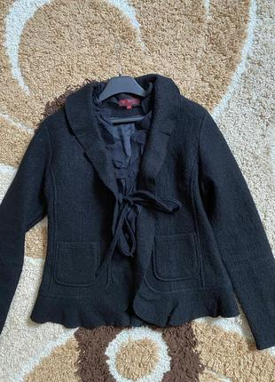 Теплое пальто/пиджак из валяной шерсти derhy🖤