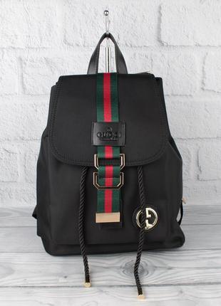 Стильный качественный городской рюкзак  9808 черный, полиэстер