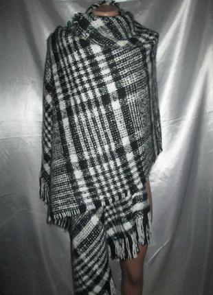 Палантин, шарф, теплый, шикарный, большой.