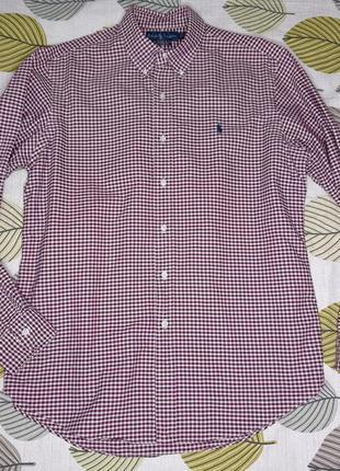 Рубашка сорочка в клітинку ralph lauren