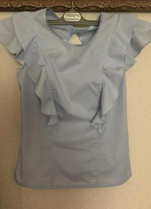 Голубая красивая блузка р. s