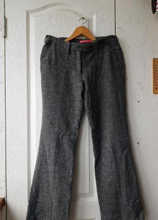 Теплые брюки в елочку broadway