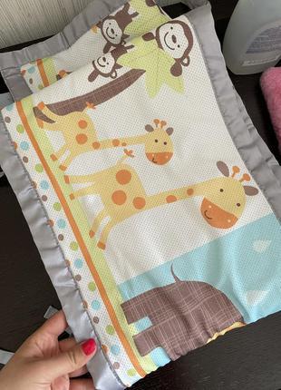 Дышащие бортики для детской кроватки безопасные