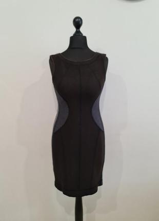 Коричневое теплое шерстяное платье marc cain