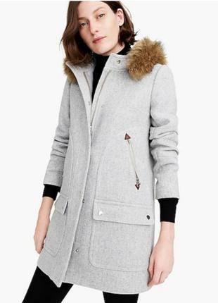 J. crew стильное пальто шерсть как у блогеров