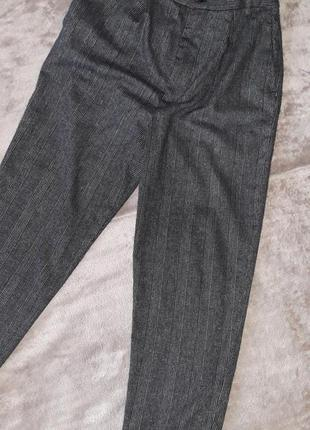 Zara woman теплые шерстяные брюки , штаны 42-44