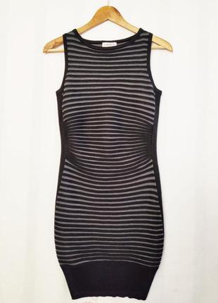 Дизайнерское бандажное платье силуэт от carmen marc valvo размер с-м