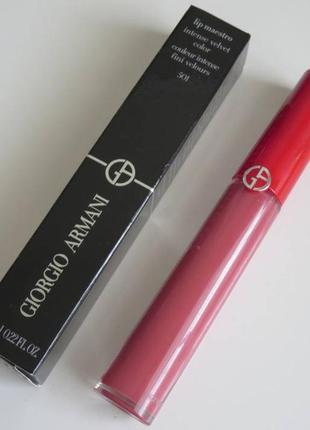 Armani lip maestro intense velvet color -жидкая помада # 501