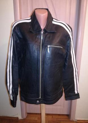 Модная кожаная натуральная куртка