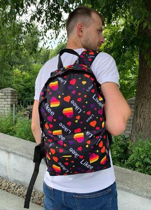 Школьный рюкзак, вместительный для учебы с принтом likee, качественный портфель подростку