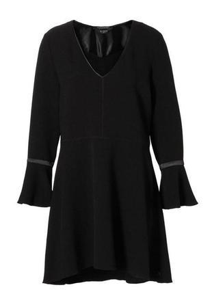 Женское черное свободное платье maison scotch + подарок размер хс-с