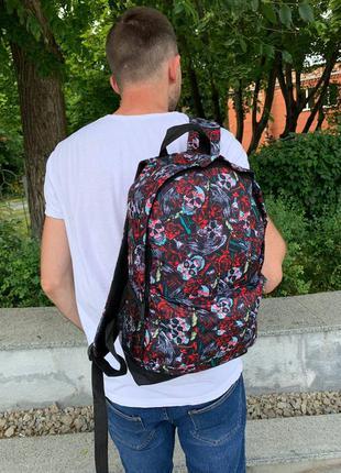 Школьный рюкзак, вместительный для учебы с принтом черепа, качественный портфель подростку