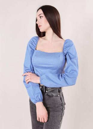 Блуза c объемными рукавами