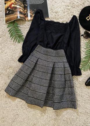 Яркая неопреновая мини юбка №4