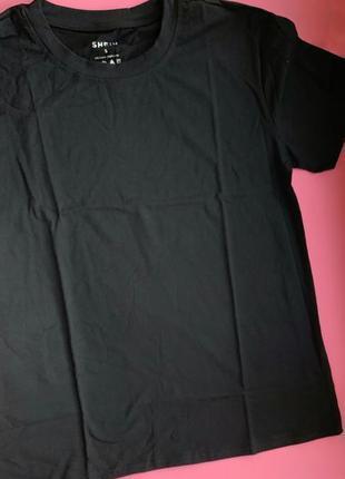 Чорна оверсайз футболка базова, довга футболка жіноча, черная базовая футболка.