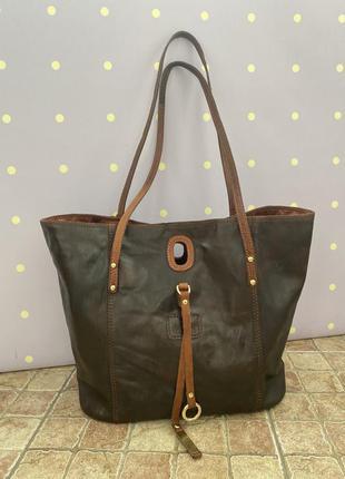 Кожаная сумка шоппер, rowallan