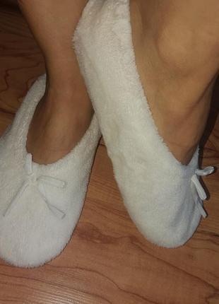 Мягкие тапочки носки