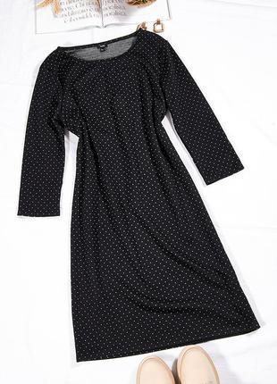 Классическое платье черное, повседневное платье черное, теплое платье зимнее, сукня