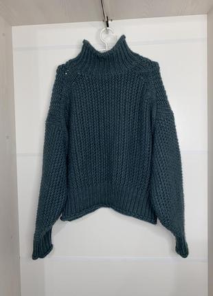 Модный вязаный свитер h&m