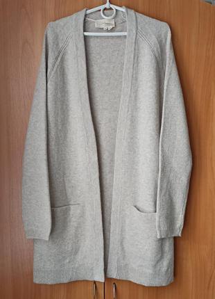 Шерстяной кардиган с карманами