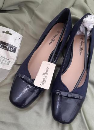 Синие шикарные туфли