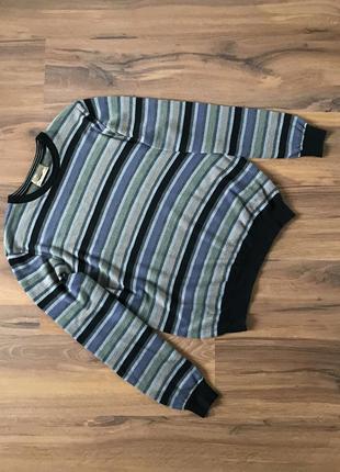 Свободный свитер с круглым вырезом / джемпер (шерсть, шёлк)