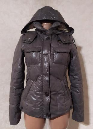Люкс бренд куртка пуховик blauer, оригинал, xs-s