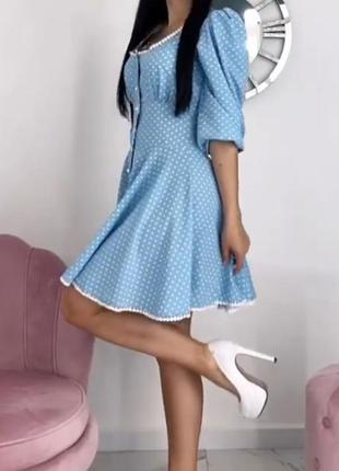 Платье в горошек делори стайл