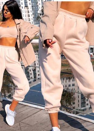 Теплые штаны спортивные джоггеры женские