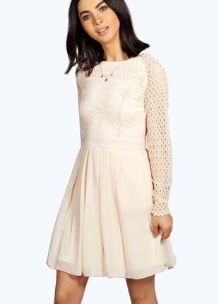 Пудровое платье boohoo,р-р 10