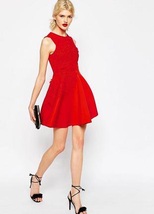 Вечернее, выпускное платье с кружевом 3d