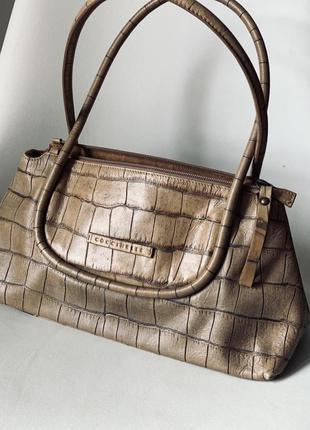 Сумка сумочка багет  coccinelle номерная натуральная кожа !