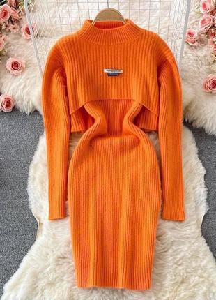 Женский костюм платье и реглан