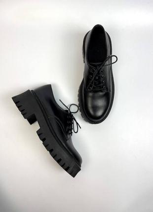 Туфли натуральная кожа броги ботинки