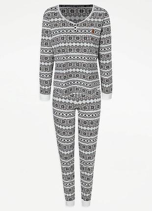 Пижама трикотажная женская george m 46-48,  l 48-50, xl 50-52