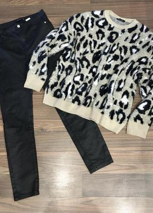 Штаны с пропиткой +объемный свитер new look