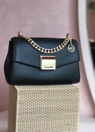 Сумка женская кросс-боди michael kors оригинал lita small leather crossbody bag чёрная кросс боди