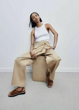 Zara брюки асиметричного кроя