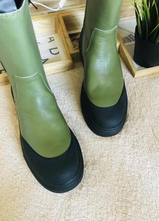 Кожаные сапоги 👢 zara