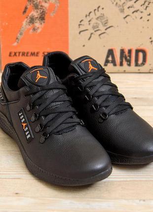 Мужские кроссовки из натуральной кожи jordan