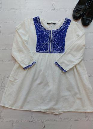 Вышиванка блуза рубашка котон зара