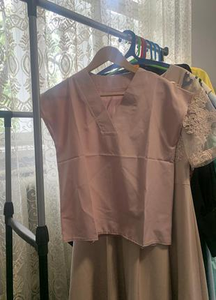 Дуже класна блуза кофта блузка пудрового цвета