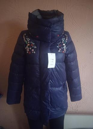 Женская курточка с яркими камушками, размеры л хл