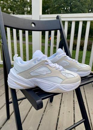 Nike m2k tekno phantom white кроссовки женские кожа