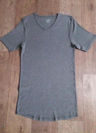 Нательная хлопковая футболка серая livergy германия