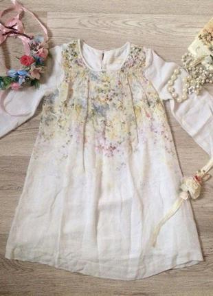 Нежное и натуральное платье зара