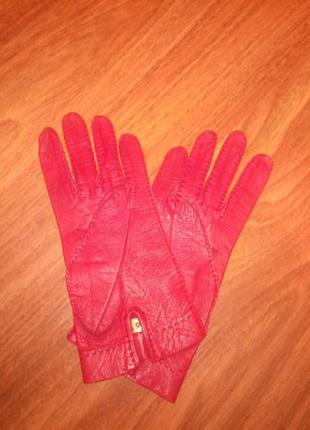 Перчатки кожа женские