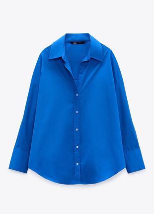 Новая синяя рубашка зара электрик zara