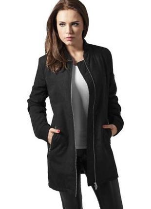 Длинная куртка бомбер пальто bershka